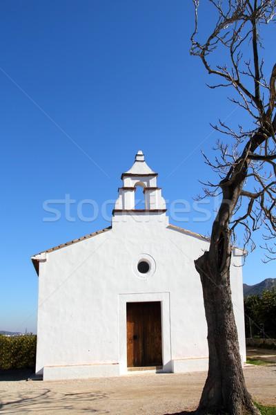 Ermita la Xara Simat de la Valldigna white church Stock photo © lunamarina