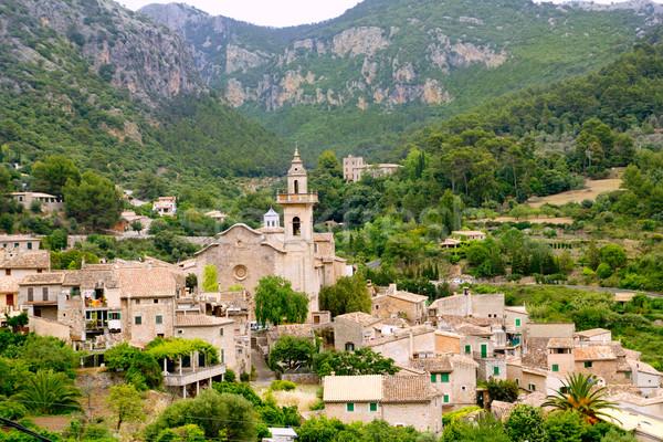 Valldemossa valley village view in Majorca Tramontana Stock photo © lunamarina