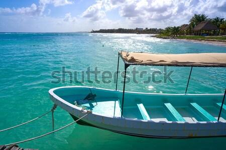 boat bow in Illetes Formentera Ibiza island Stock photo © lunamarina