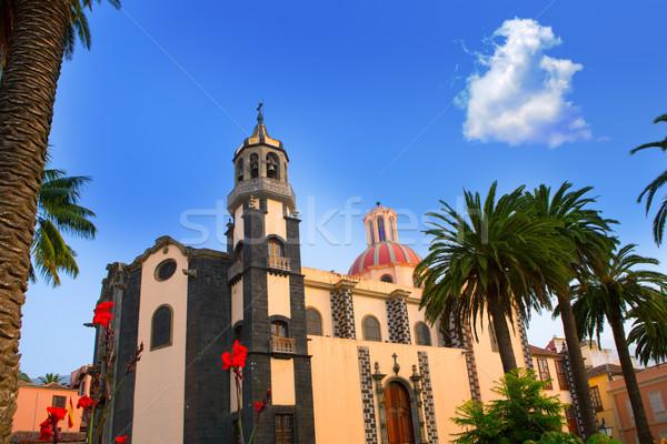 LA templom piros kupola Tenerife Kanári-szigetek Stock fotó © lunamarina