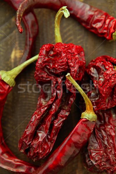 Red dried hot chili peppers Stock photo © lunamarina