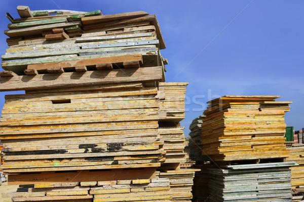 formwork shuttering wood board stacked Stock photo © lunamarina