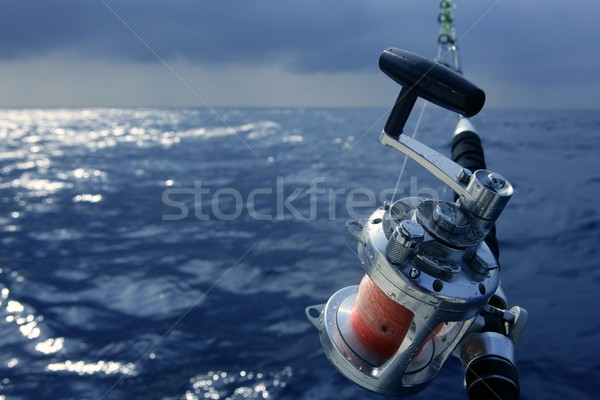Angler boat big game fishing in saltwater Stock photo © lunamarina