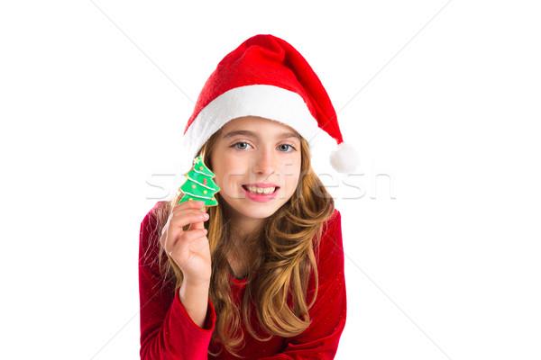 ストックフォト: クリスマス · 子供 · 少女 · クリスマス · ツリー