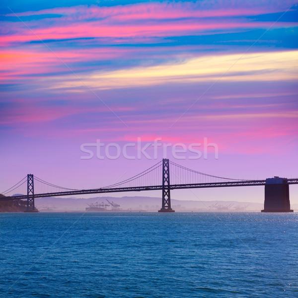 San Francisco ponte pier Califórnia pôr do sol EUA Foto stock © lunamarina