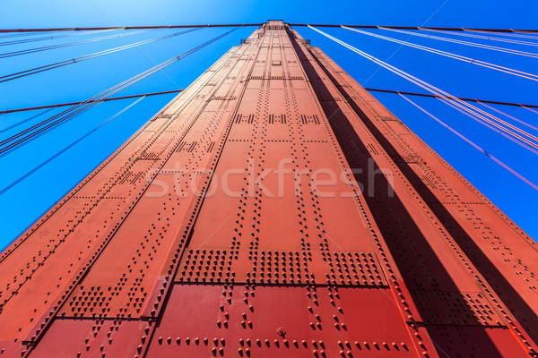 ゴールデンゲートブリッジ 細部 サンフランシスコ カリフォルニア 米国 空 ストックフォト © lunamarina