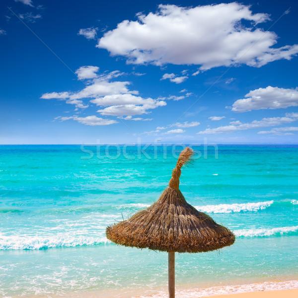 Plaj gökyüzü manzara deniz okyanus Stok fotoğraf © lunamarina