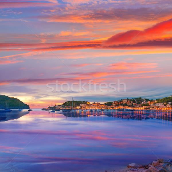порта закат острове Майорка Испания пляж Сток-фото © lunamarina