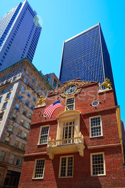 Бостон старые дома Массачусетс США путешествия Сток-фото © lunamarina
