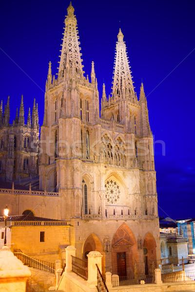 Katedrális homlokzat szent út épület templom Stock fotó © lunamarina