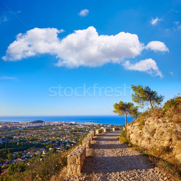 Seguir montanha mediterrânico Espanha água fundo Foto stock © lunamarina