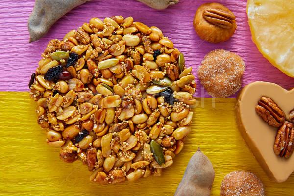 Mexicaanse snoep zoete pinda's knapperig vruchten Stockfoto © lunamarina