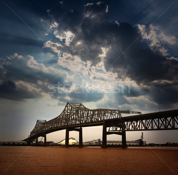 Louisiana brug Mississippi rivier interstate USA Stockfoto © lunamarina