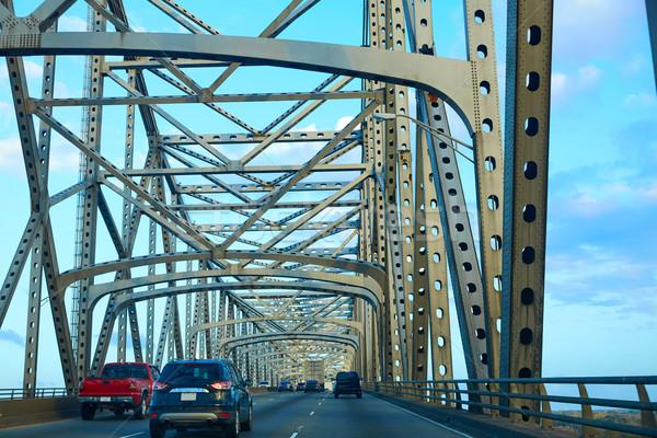 Horace Wilkinson Bridge in Mississippi river Stock photo © lunamarina