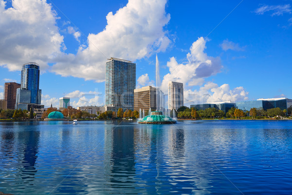 Orlando horizonte lago Florida EUA ciudad Foto stock © lunamarina