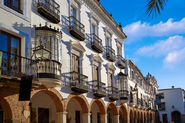 Zafra Plaza Grande in Spain Extremadura Stock photo © lunamarina