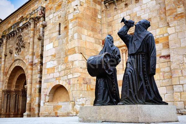 Nazarenos statue at Zamora San Juan church Stock photo © lunamarina