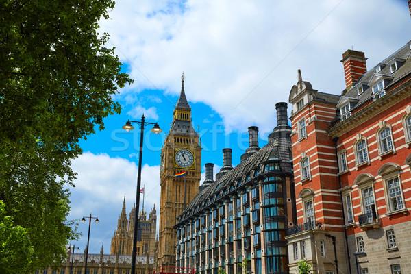 Big Ben Londres horloge tour thames rivière Photo stock © lunamarina