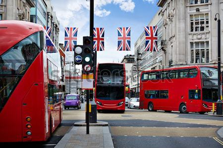 Londres rue westminster bus bâtiment Voyage Photo stock © lunamarina