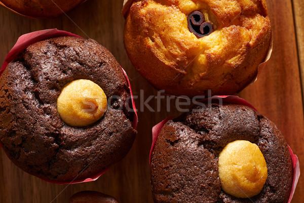 Muffin primer plano macro detalle textura mesa Foto stock © lunamarina