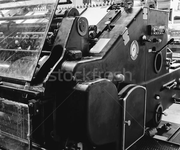 Printer lithography cylinder machine printing Stock photo © lunamarina