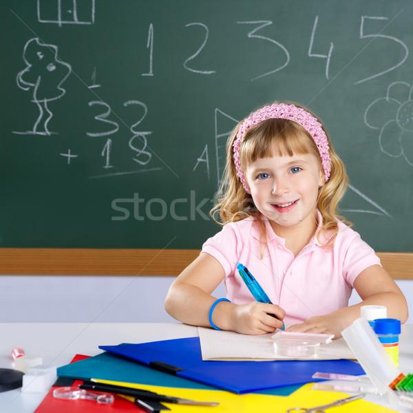 Boldog gyerekek diák lány iskola osztályterem Stock fotó © lunamarina