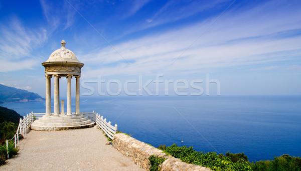 Stockfoto: Zoon · zee · middellandse · zee · landschap · venster · bomen