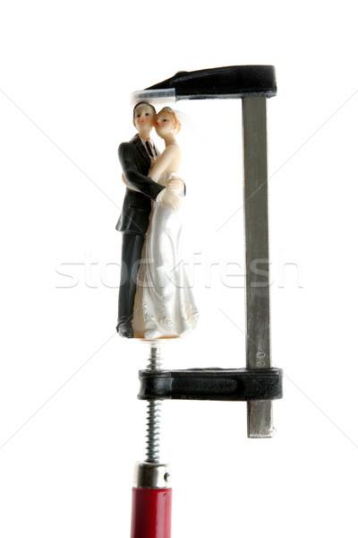 Bruiloft beeldje druk zoals hand Rood Stockfoto © lunamarina