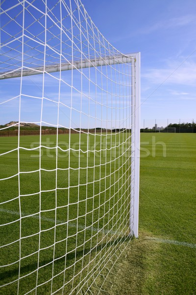 Net football objectif football herbe verte domaine Photo stock © lunamarina