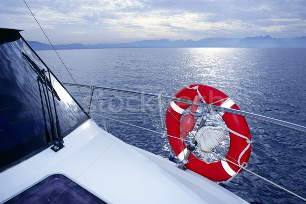 Bue ocean sea view from boat Stock photo © lunamarina