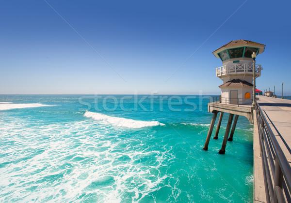 Strand hoofd- badmeester toren surfen stad Stockfoto © lunamarina