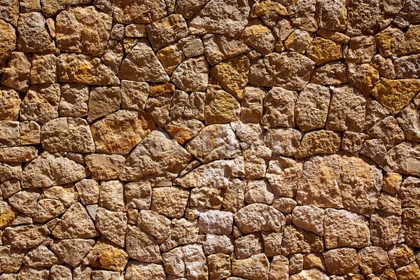 Kamieniarstwo ściany szczegół morze Śródziemne tradycyjny budowy Zdjęcia stock © lunamarina