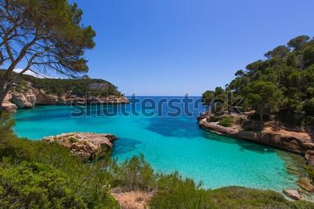 Cala Mitjana y Mitjaneta in Menorca Ciutadella at Balearic Stock photo © lunamarina