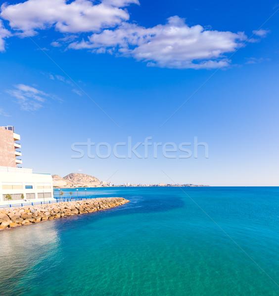 Alicante and san Juan in Mediterranean sea of Spain Stock photo © lunamarina