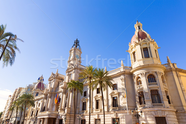 Valencia Ayuntamiento city town hall building Spain Stock photo © lunamarina