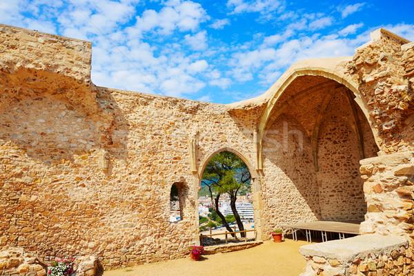 Tossa de Mar view from old church Costa Brava Stock photo © lunamarina