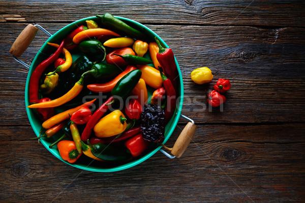 Mexicano quente colorido serrano Foto stock © lunamarina