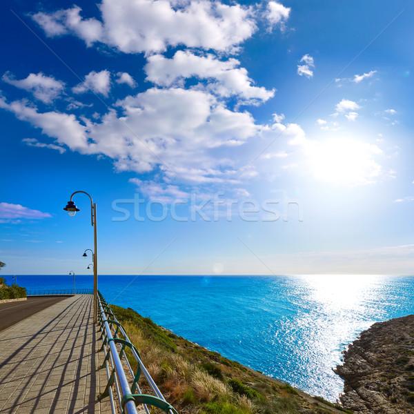 Mediterrán tenger Valencia Spanyolország tengerpart nyár Stock fotó © lunamarina
