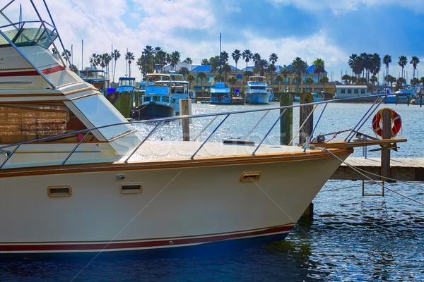 Daytona Beach in Florida marina boats USA Stock photo © lunamarina