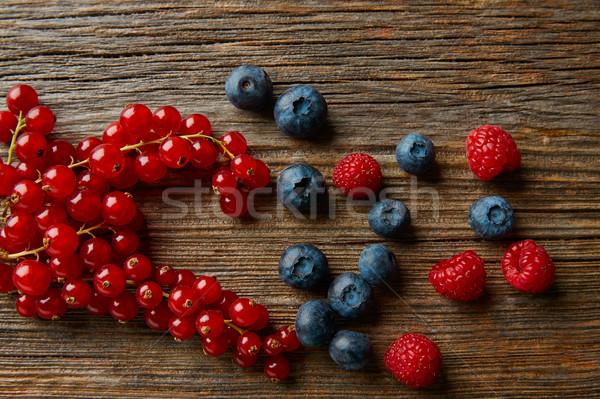 Berries mix blueberries currants raspberries Stock photo © lunamarina