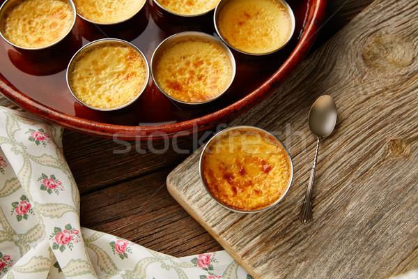 Crème dessert four cuit alimentaire Photo stock © lunamarina