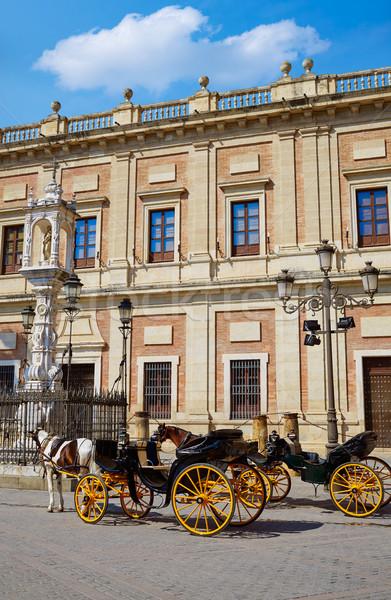 Seville Archivo Indias horse carriage Sevilla Spain Stock photo © lunamarina