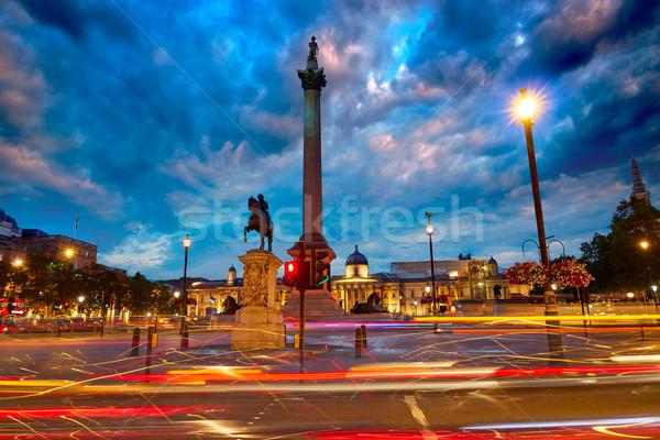 Londyn placu wygaśnięcia kolumnie Anglii miasta Zdjęcia stock © lunamarina