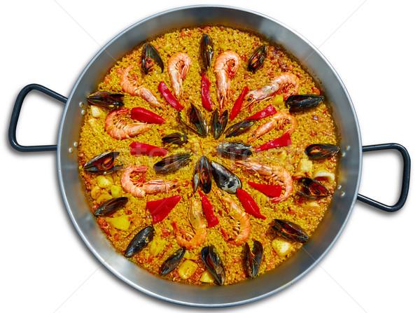 Zeevruchten Spanje Valencia recept voedsel achtergrond Stockfoto © lunamarina