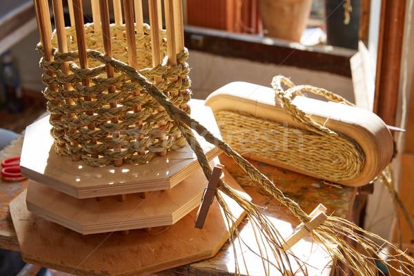 трава используемый ремесла дизайна рабочих Vintage Сток-фото © lunamarina