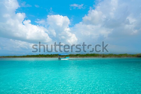 Laguna de Bacalar Lagoon in Mayan Mexico Stock photo © lunamarina