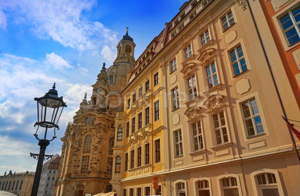 Dresden facades Saxony of Germany Stock photo © lunamarina