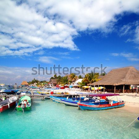 Puerto Juarez Cancun Quintana Roo tropical boats Stock photo © lunamarina