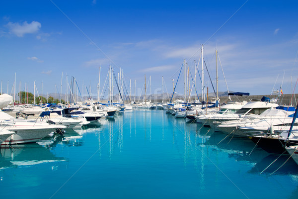 Porta marina norte mallorca ilha Espanha Foto stock © lunamarina