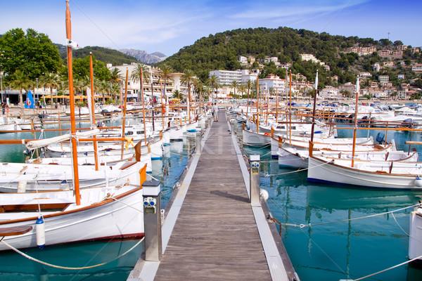 Сток-фото: порта · Майорка · лодках · город · морем · лет